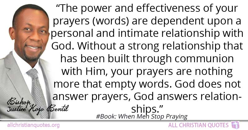justice kojo bentil quote about answer power relationship