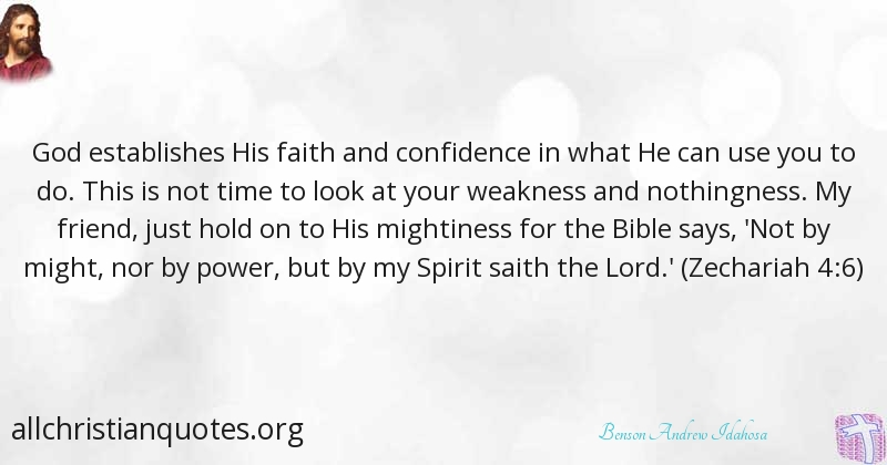 benson andrew idahosa quote about confidence faith god