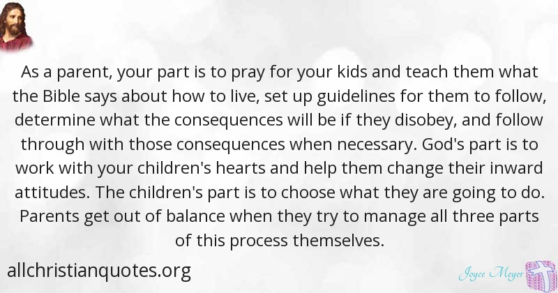 Joyce Meyer Quote About Process Parenting Mothers Day