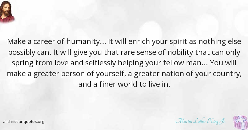 Martin Luther King Jr Quote About Humility Only Spirit