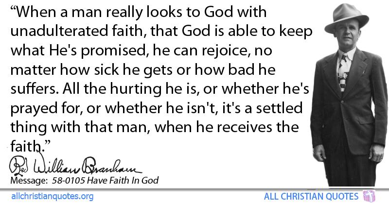 William Marrion Branham Quote About: #Faith, #Rejoice, #Fix, #