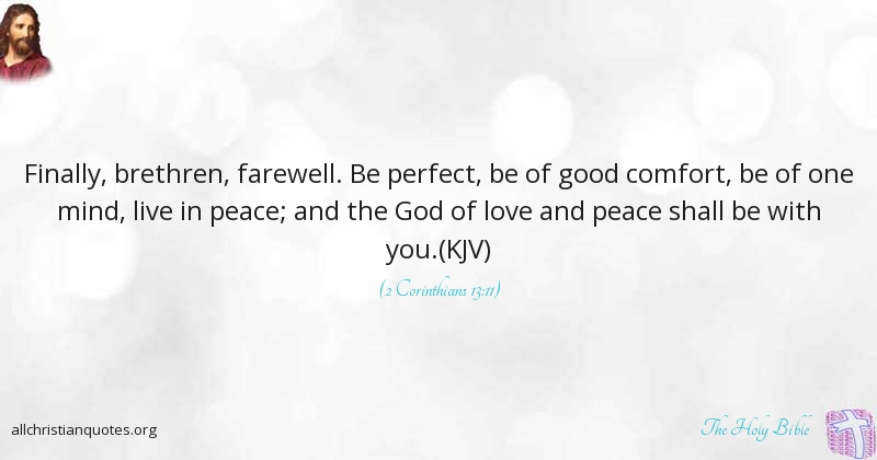 The Holy Bible Quote About Good Comfort Peace Live All