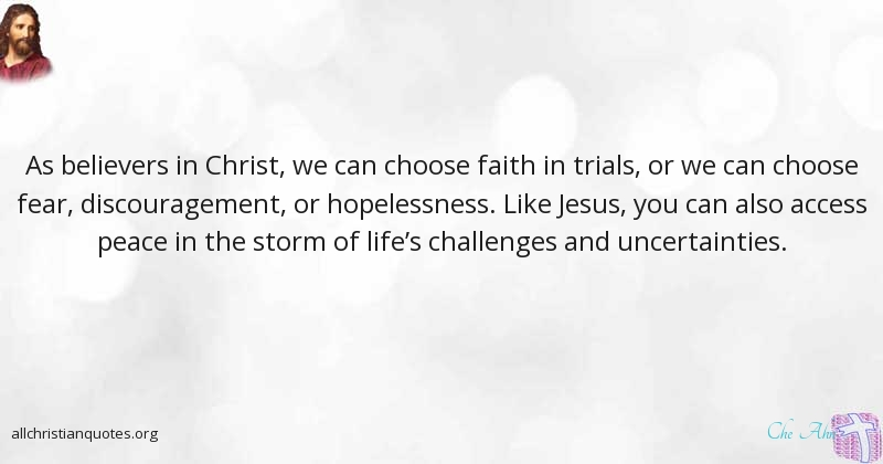 Che Ahn Quote About All Christian Quotes