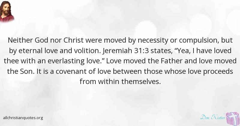 Everlasting Love Quotes Interesting Don Kistler Quote About Between Father God Love  All