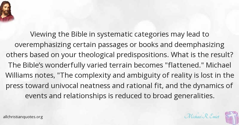 Michael R  Emlet Quote about: #Books , #Bible, #Lead