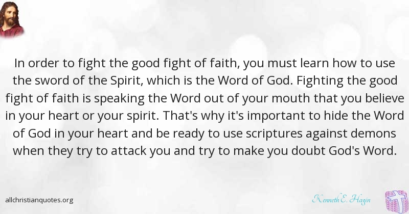 Kenneth E Hagin Quote About Faith Important Learn Spirit
