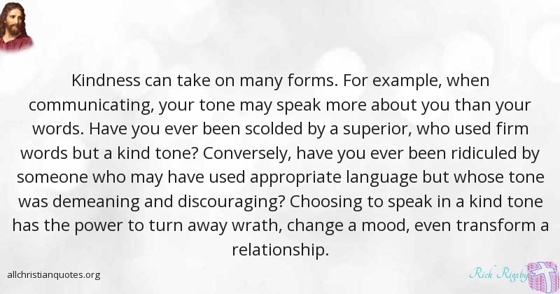 rick rigsby quote about words relationship someone