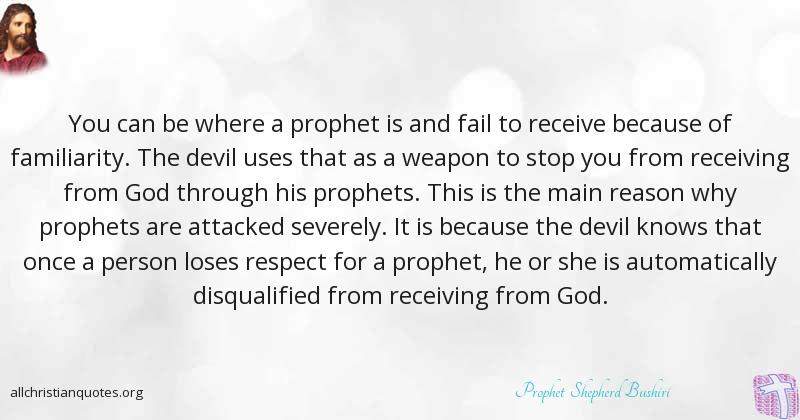 Prophet Shepherd Bushiri Quote About Devil Respect Prophet