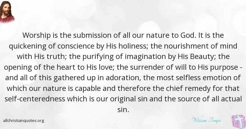 william temple quote about god submission worship nature