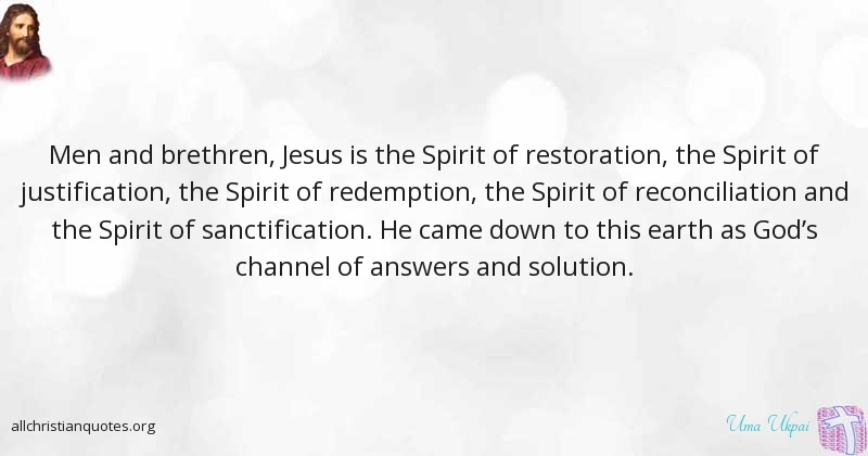 Uma Ukpai Quote about: #Jesus, #Solution, #Redemption ...