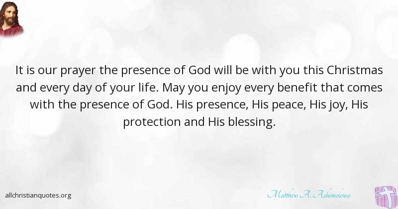 Christmas Blessing Prayer.Matthew A Ashimolowo Quote About Christmas Declaration