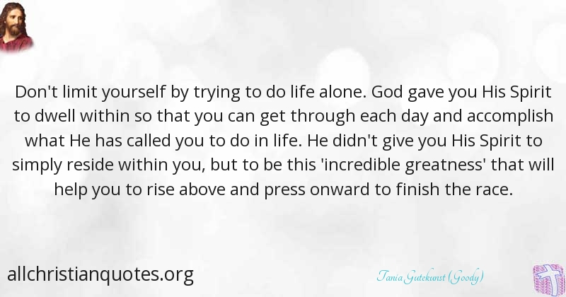 Tania Gutekunst Goody Quote About Accomplish Life Press