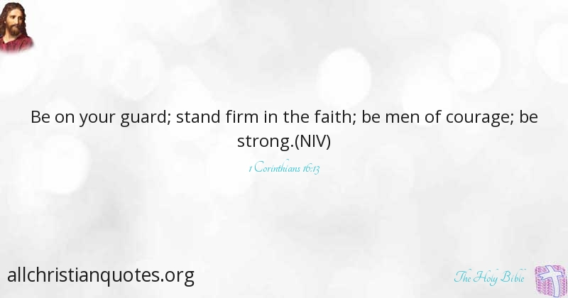 bible quotes about being strong