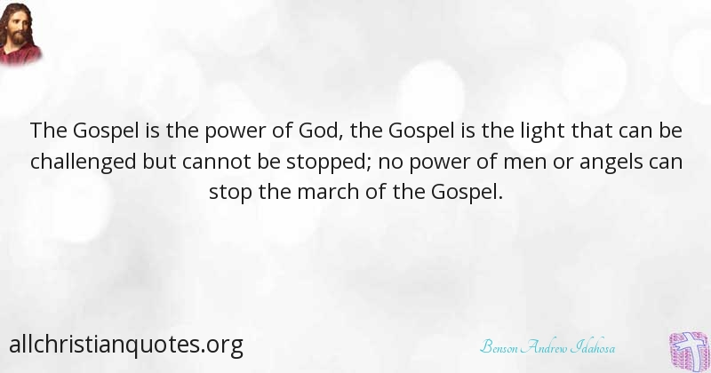 benson andrew idahosa quote about stop challenge gospel